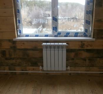 Теплый пол в каркасном доме на сваях